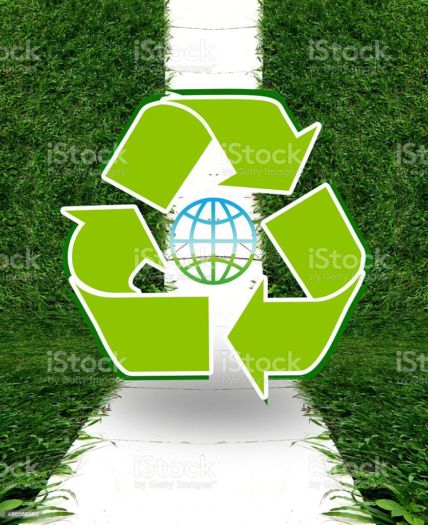 Recycle sign royalty-free stock photo
