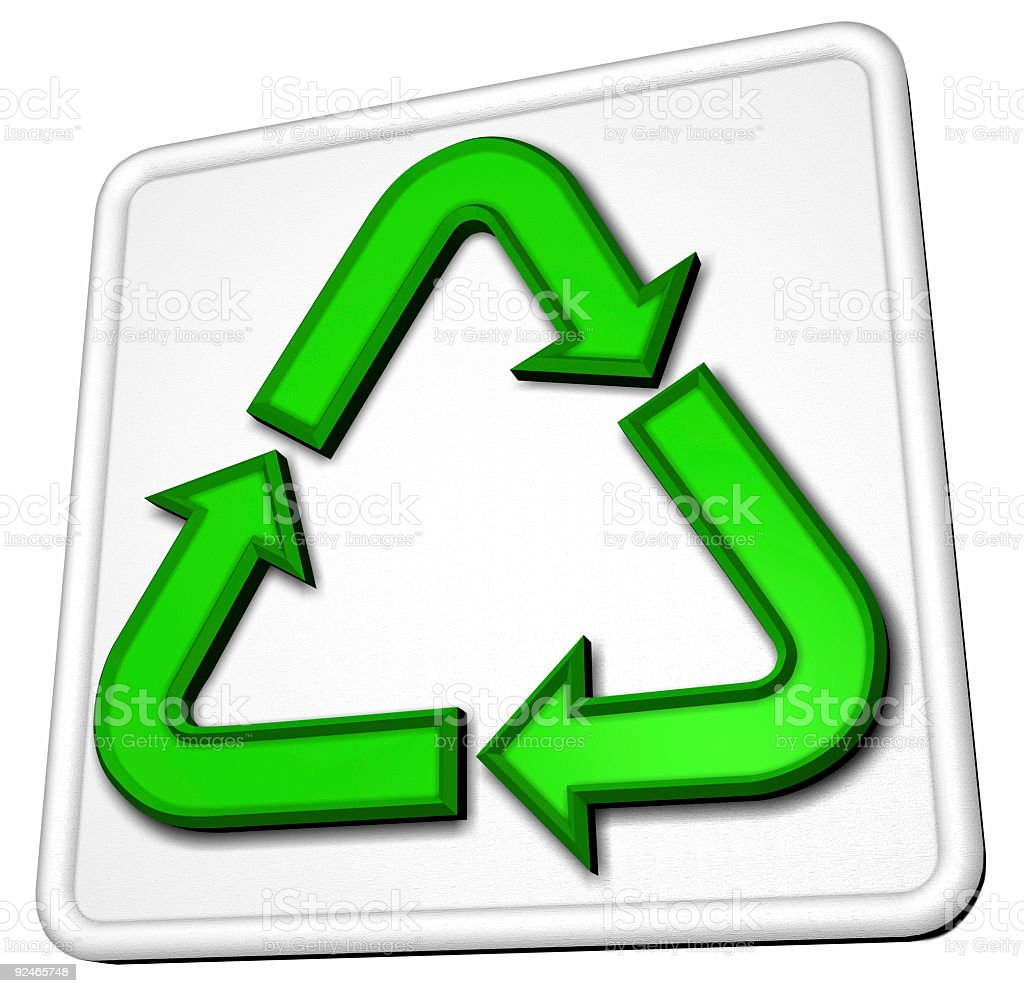 Recycle Sign (3D) royalty-free stock photo