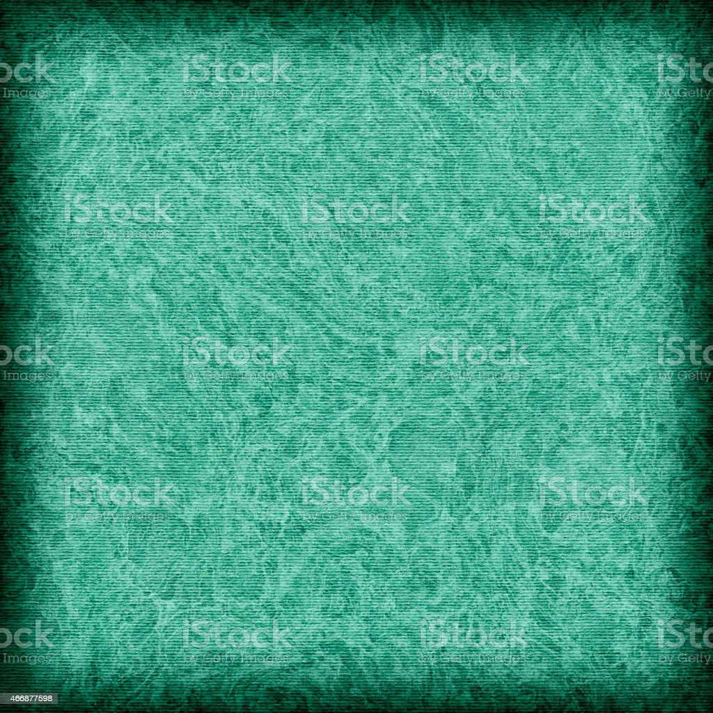 Recycle Striped Emerald Green Pastel Paper Mottled Vignette Grunge Texture stock photo