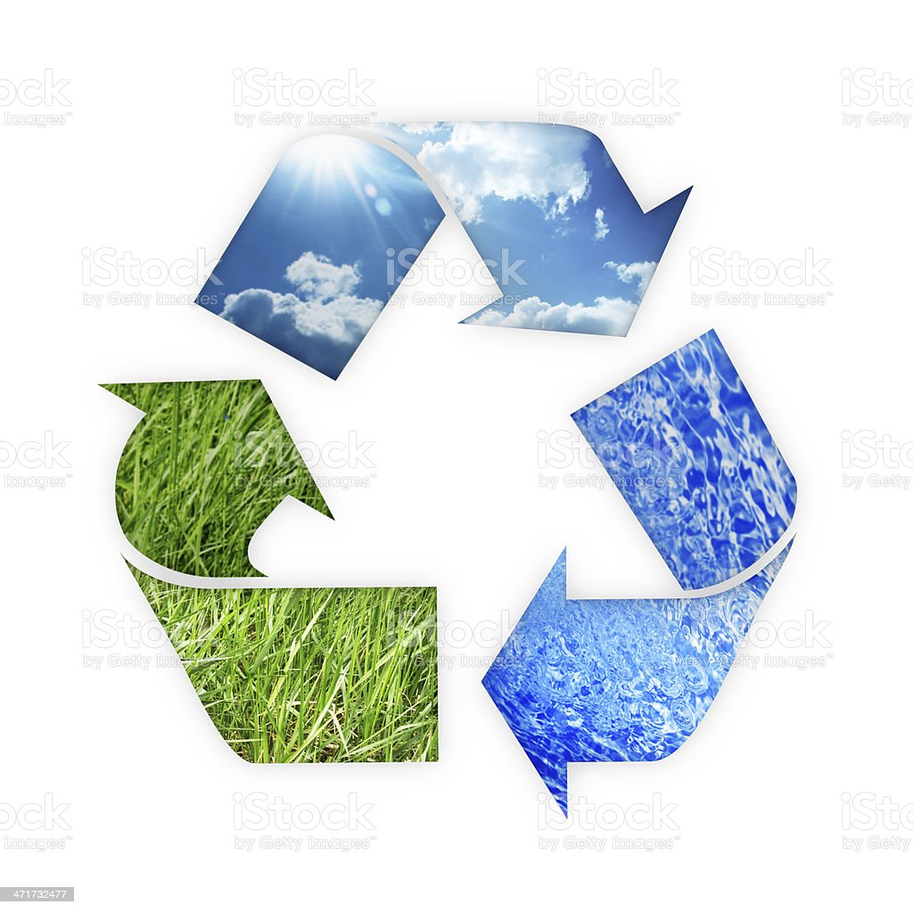 recycle Three arrows stock photo