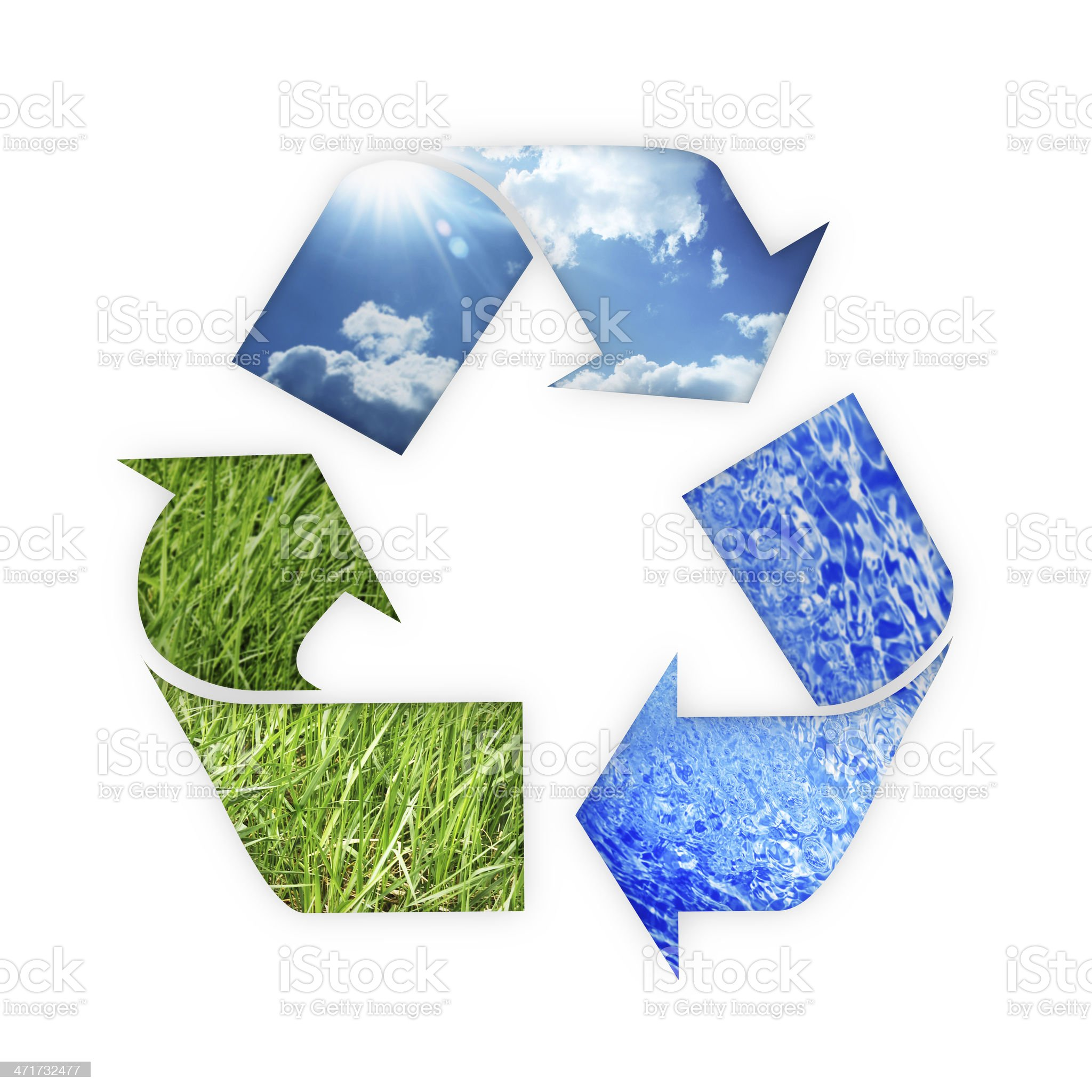 recycle Three arrows royalty-free stock photo
