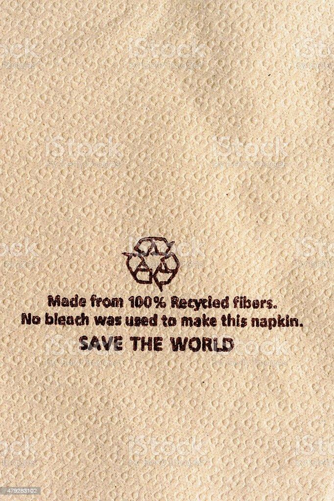 Recycle tissue. stock photo