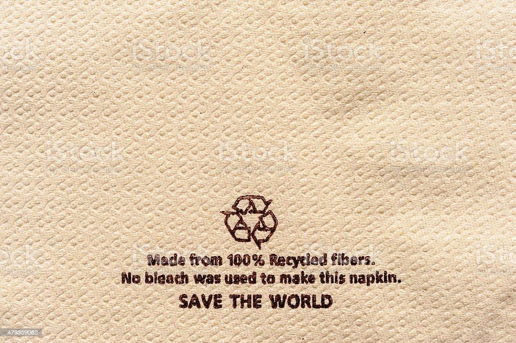 Recycle tissue stock photo