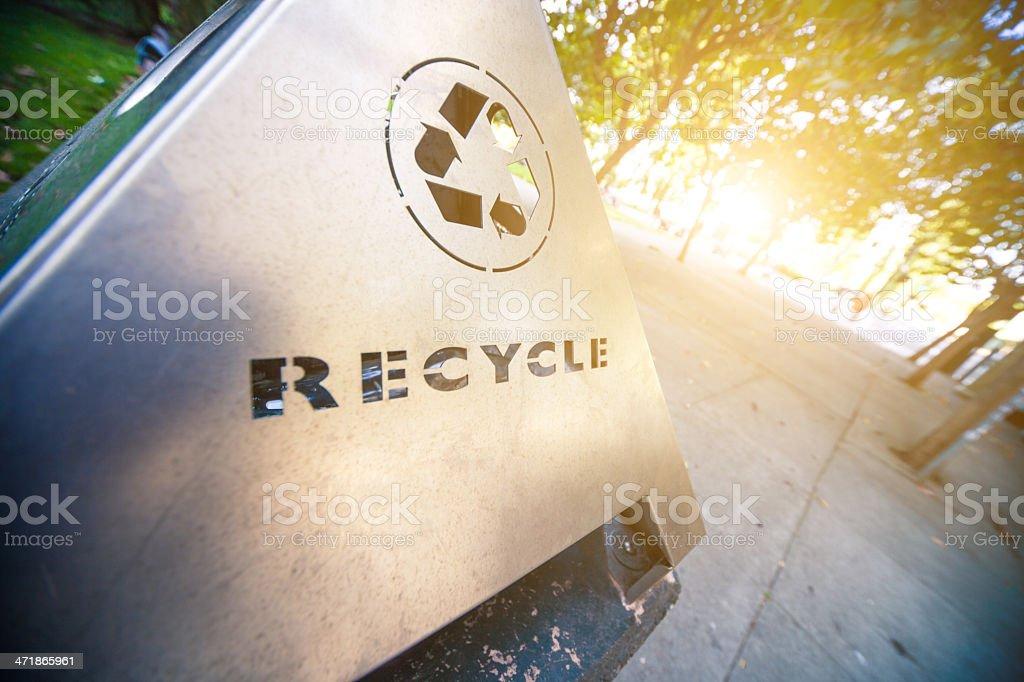 Recycle trash bin royalty-free stock photo