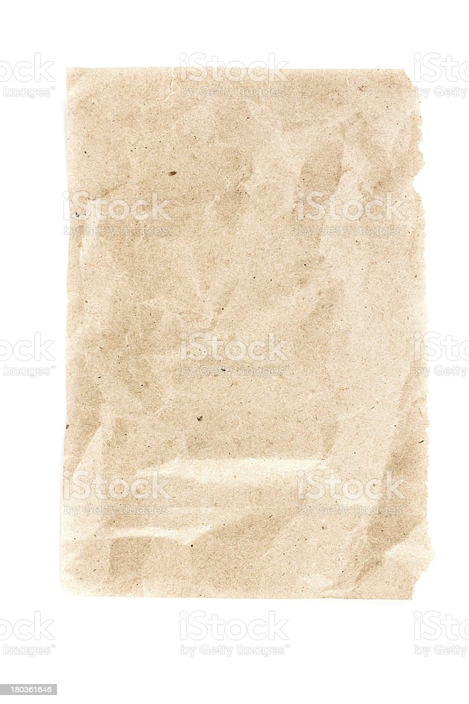 Recycled bright  paper  sheet texture or background with Torn ed royalty-free stock photo