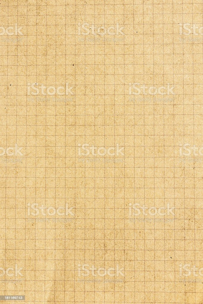 Recycled brown paper  texture or background with cell stock photo