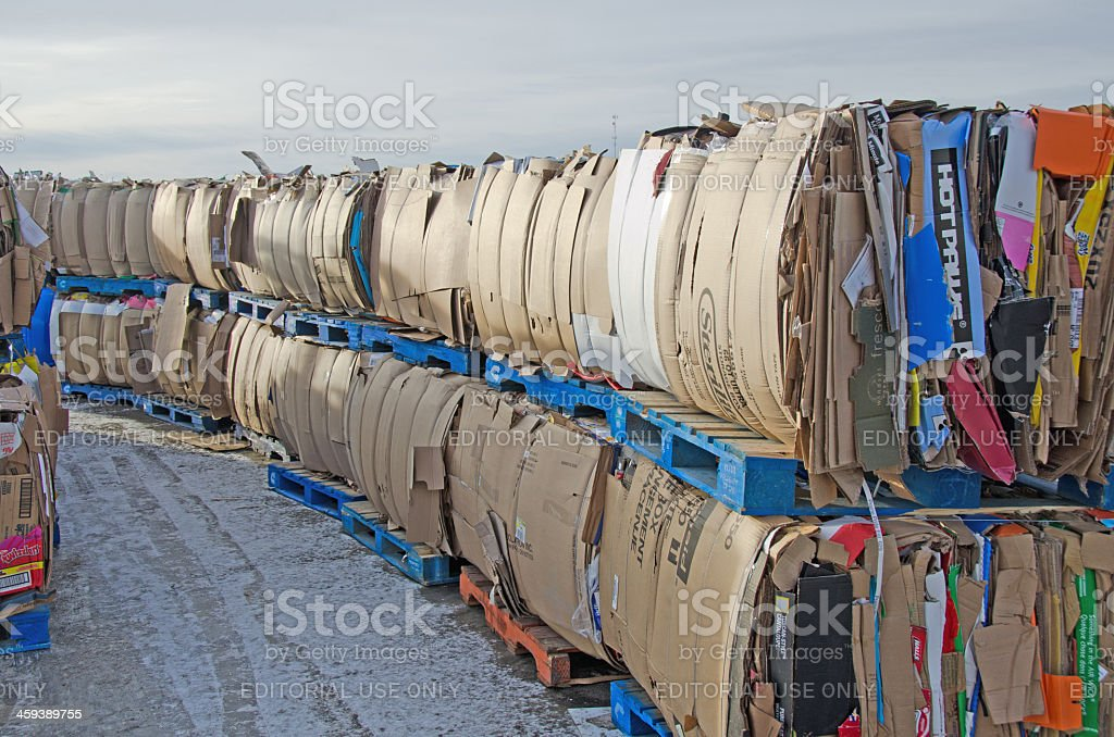 Recycled Cardboard Boxes royalty-free stock photo
