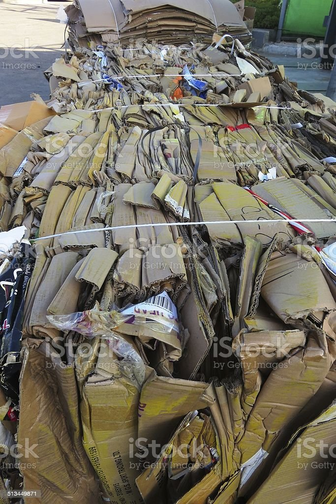 Recycled Cardboard Material stock photo