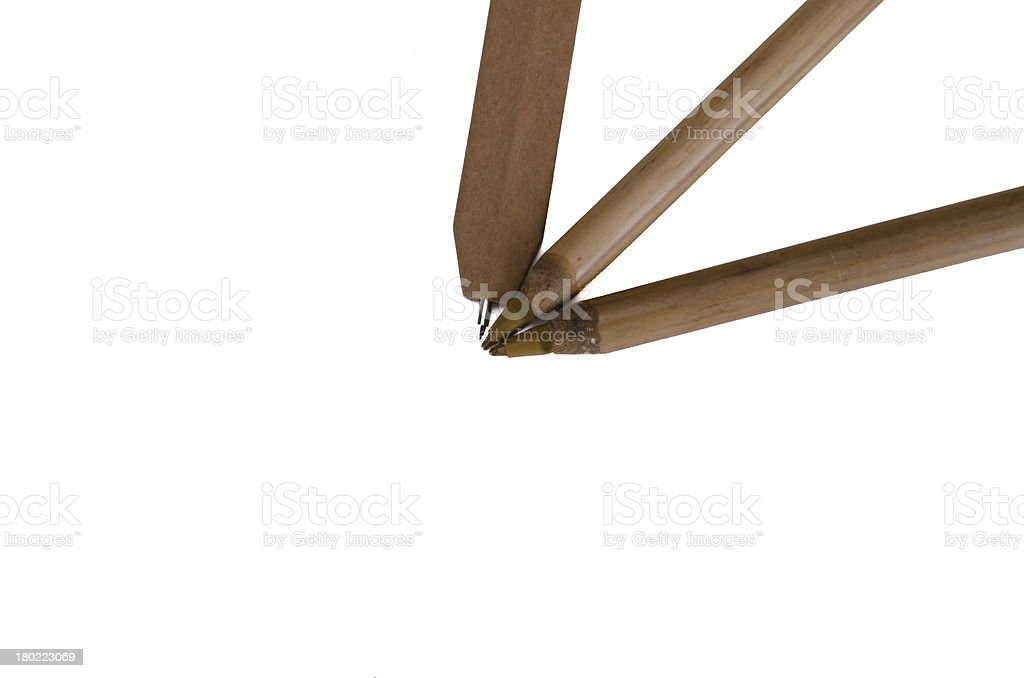 recycled cardboard pens royalty-free stock photo