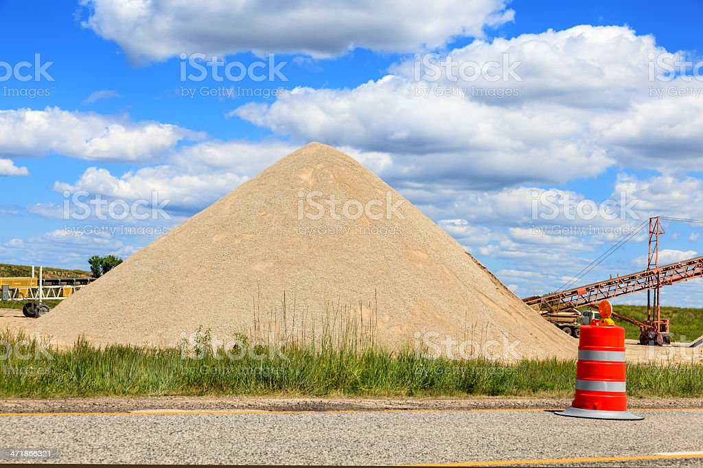 Recycled Concrete royalty-free stock photo