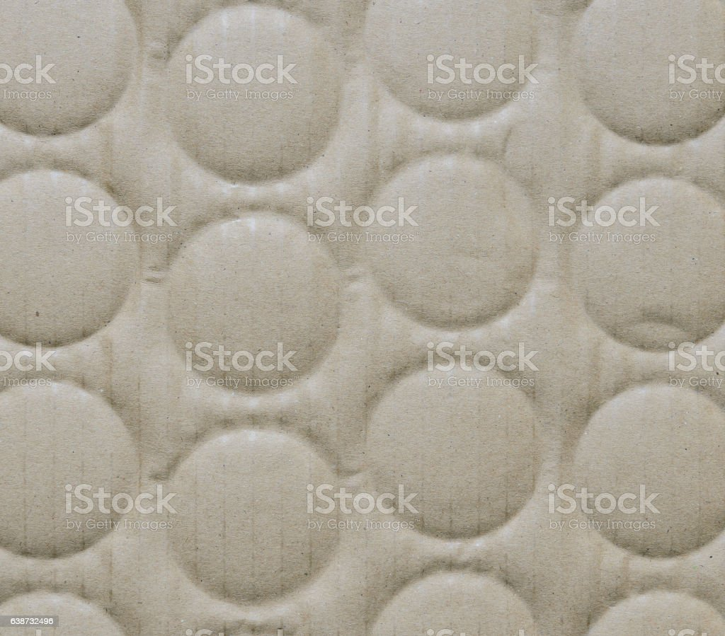 Recycled corrugated cardboard paper texture background stock photo