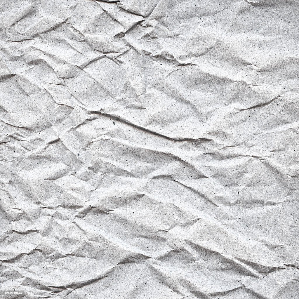 Recycled crumpled paper texture royalty-free stock photo