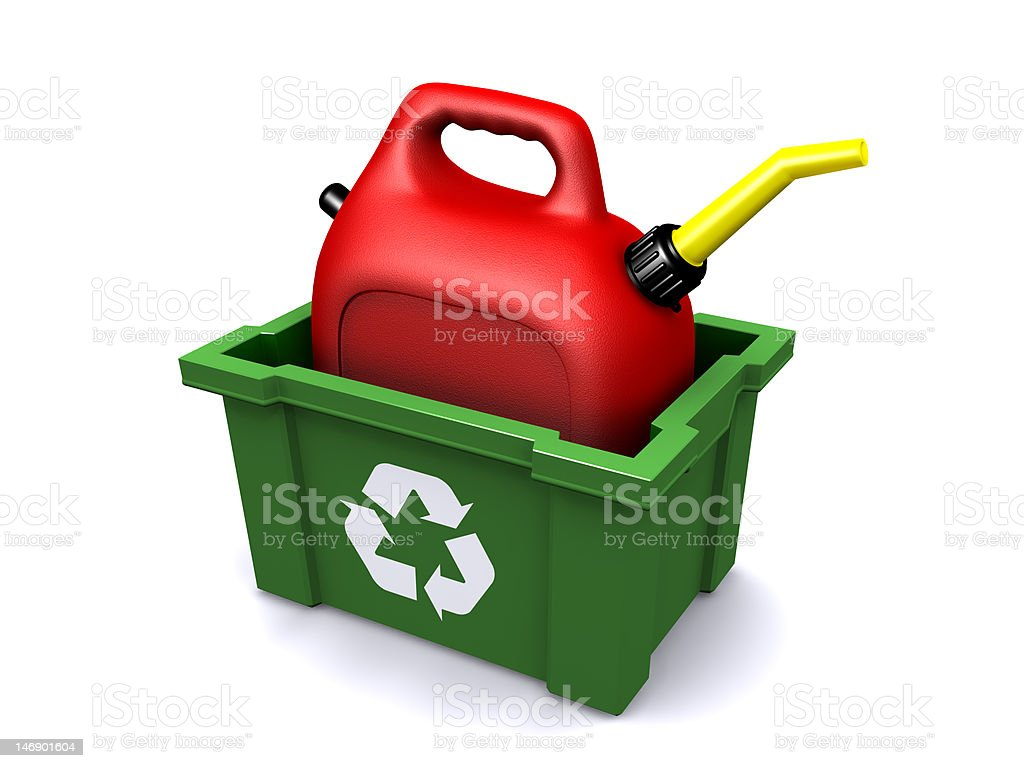 Recycled Gas Can stock photo