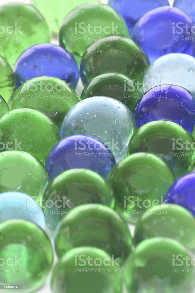 Recycled Glass Toy Marbles Background stock photo