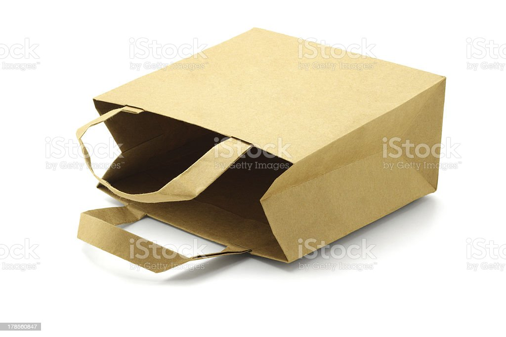 Recycled Paper Bag royalty-free stock photo
