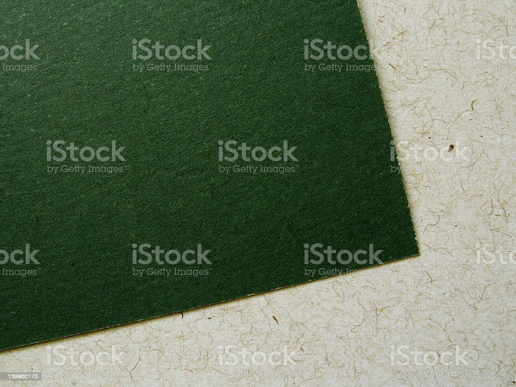 Recycled paper card and sheet stock photo