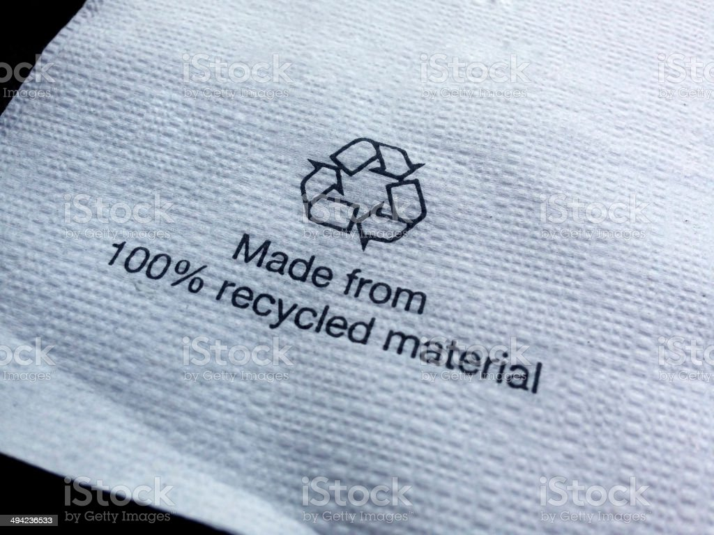 Recycled Paper Napkins stock photo