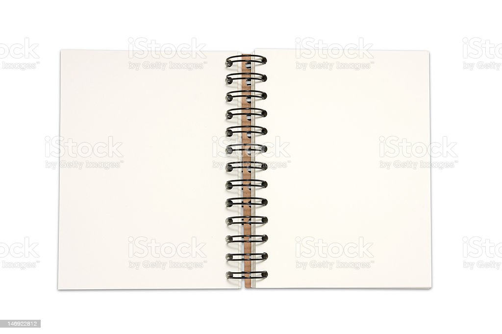 Recycled paper notebook cover open royalty-free stock photo