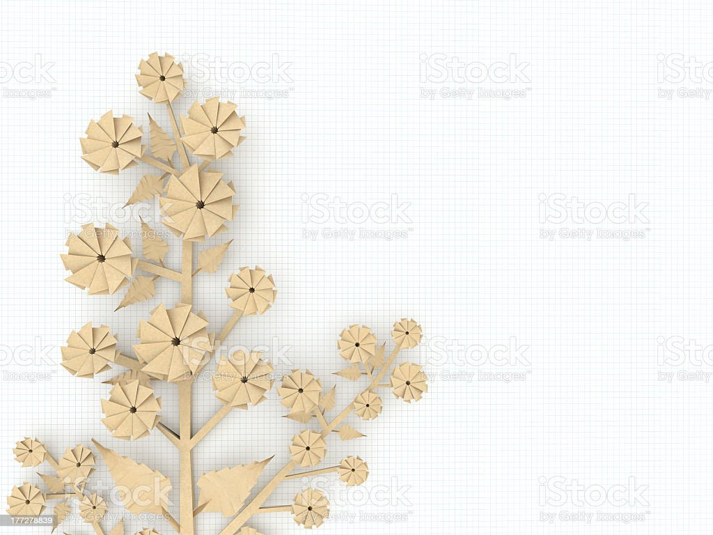 recycled paper origami flower royalty-free stock photo
