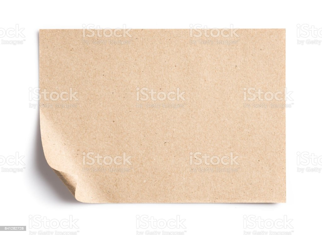 Recycled paper pad on white background stock photo
