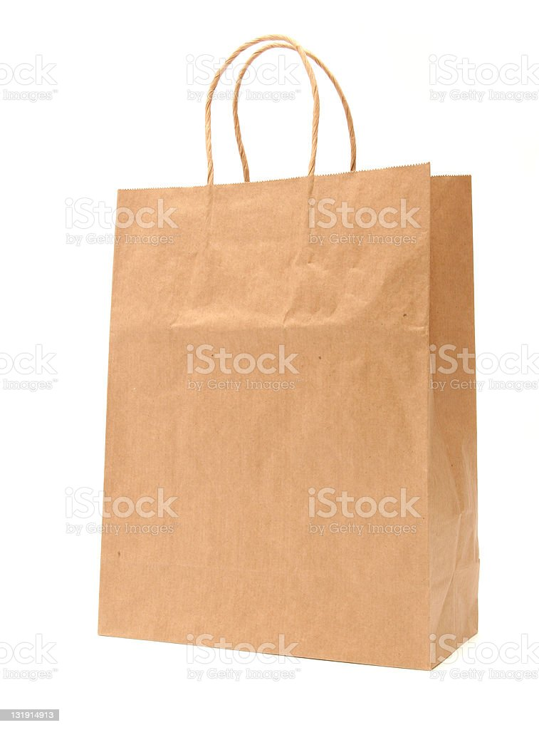 Recycled paper shopping bag royalty-free stock photo