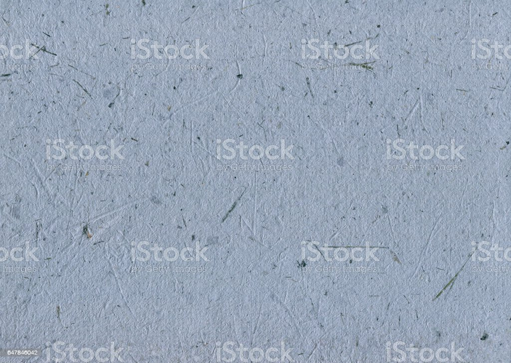 Recycled Paper Texture Background, Blue Tan Mulberry Textured Macro Closeup Pattern, Horizontal Straw Natural Handmade Rough Rice Craft Copy Space stock photo