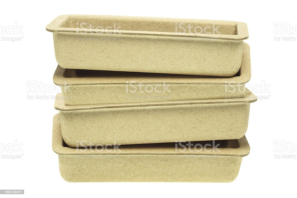 Recycled Paper Trays royalty-free stock photo