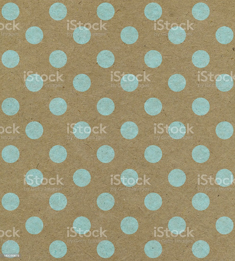 recycled paper with blue dots stock photo