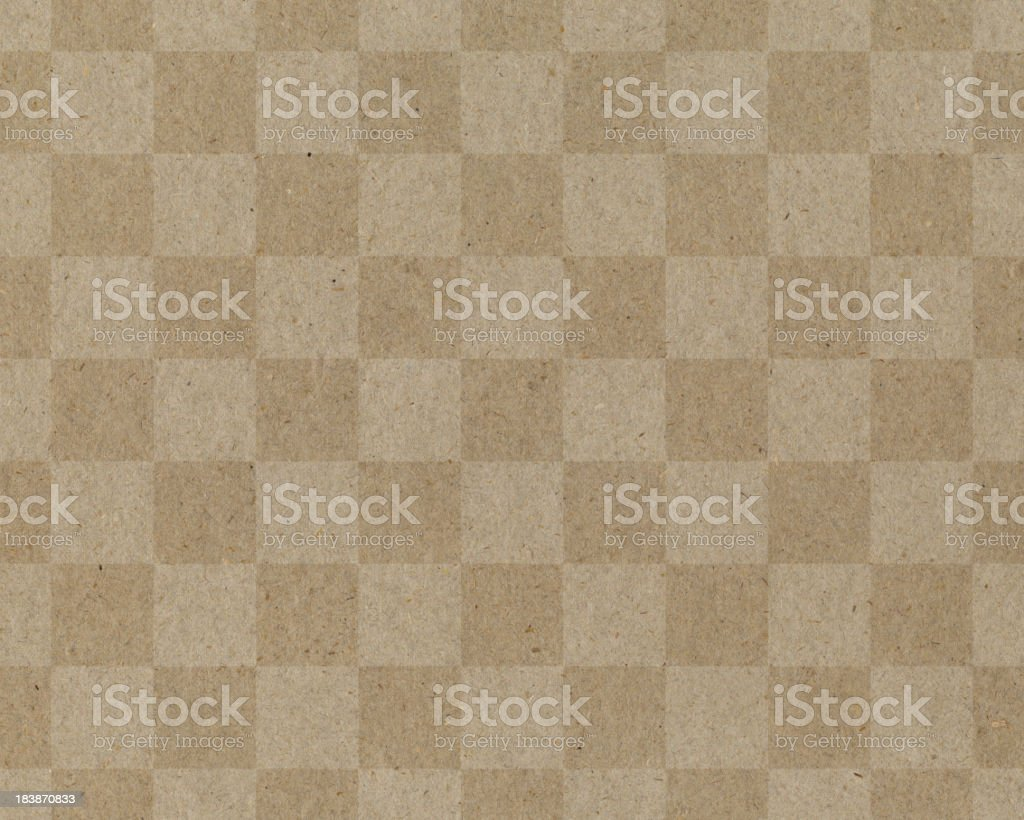 recycled paper with checked pattern royalty-free stock photo