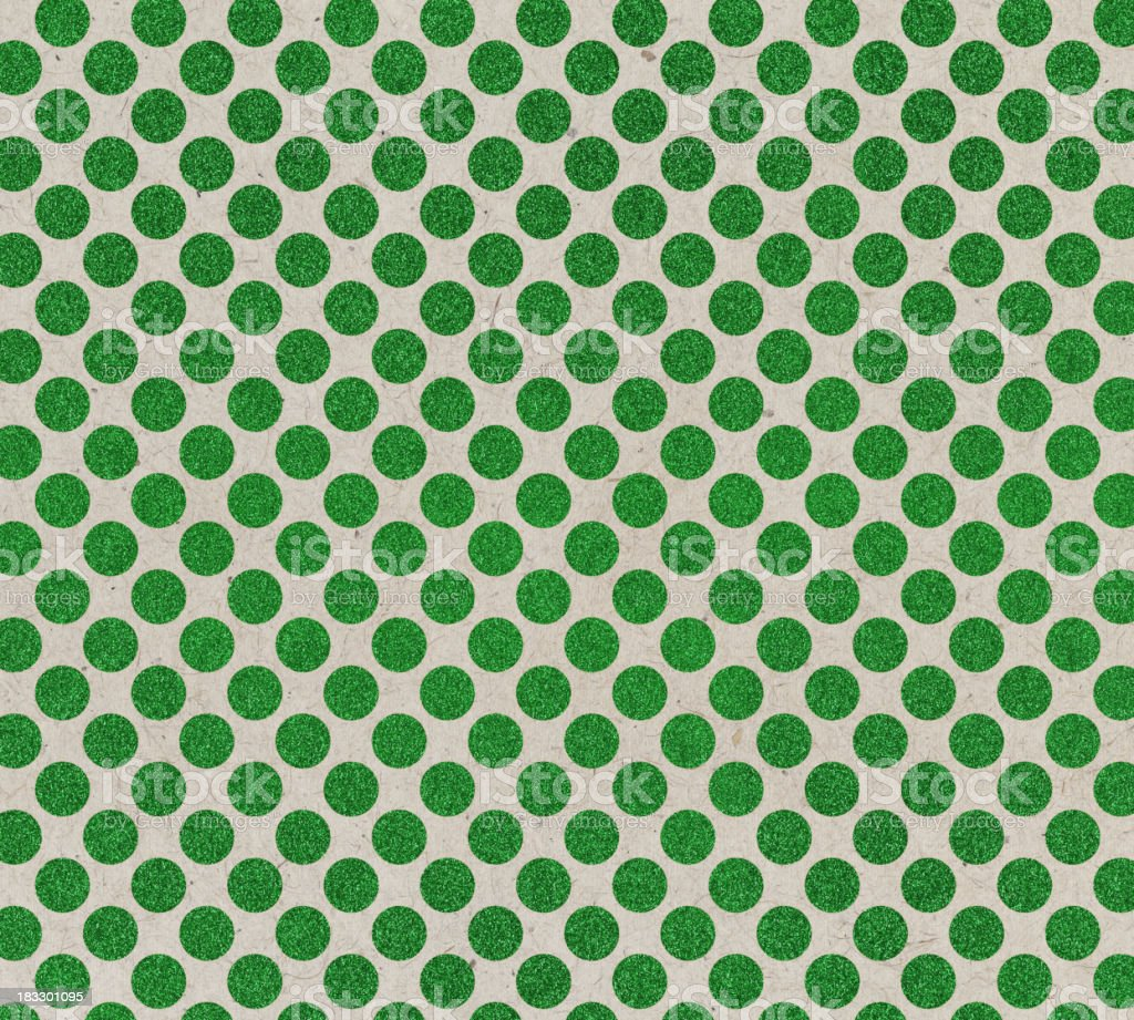 recycled paper with green dots royalty-free stock photo