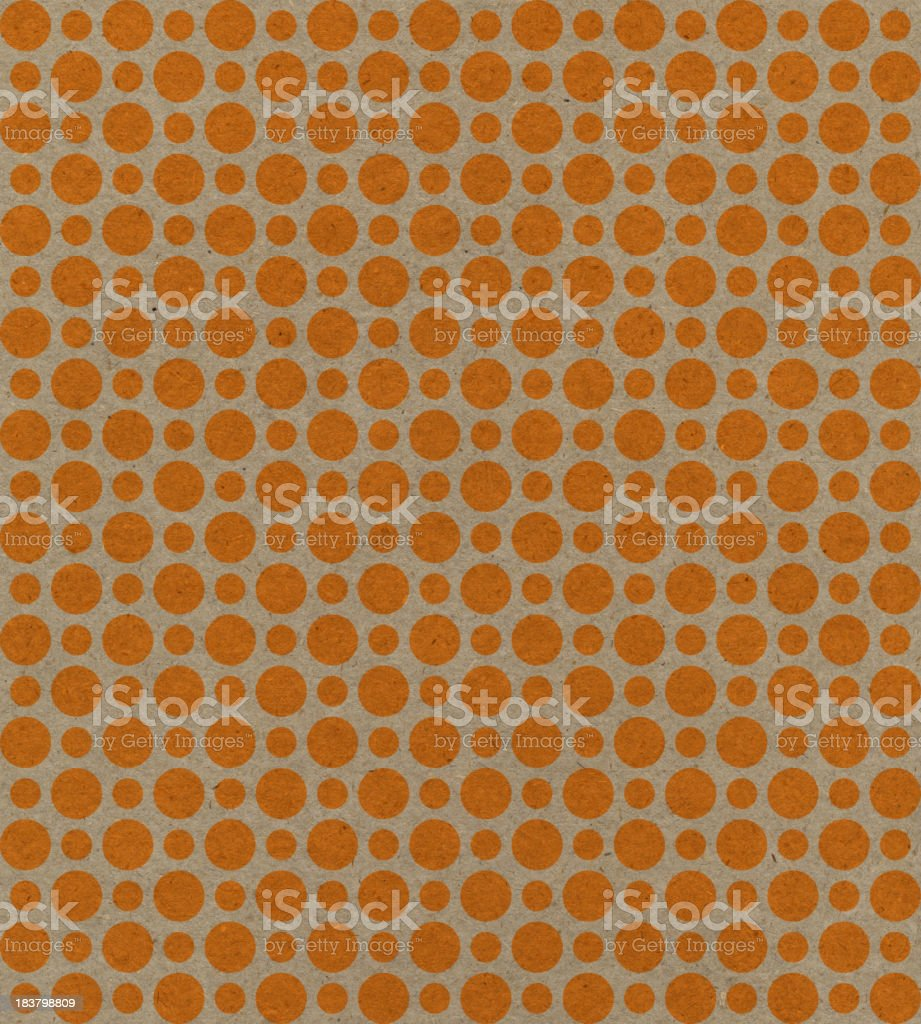 recycled paper with orange dots royalty-free stock photo