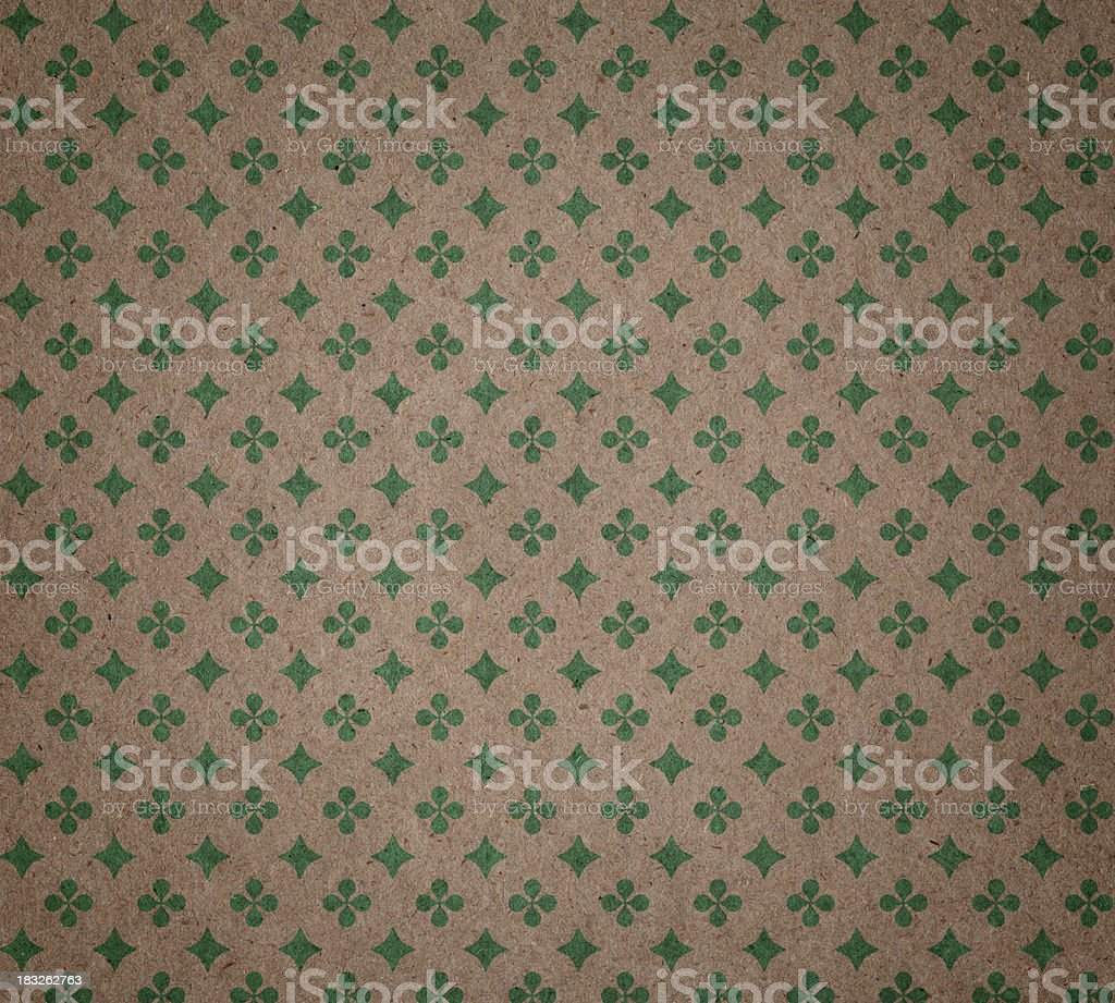 recycled paper with ornament pattern royalty-free stock photo