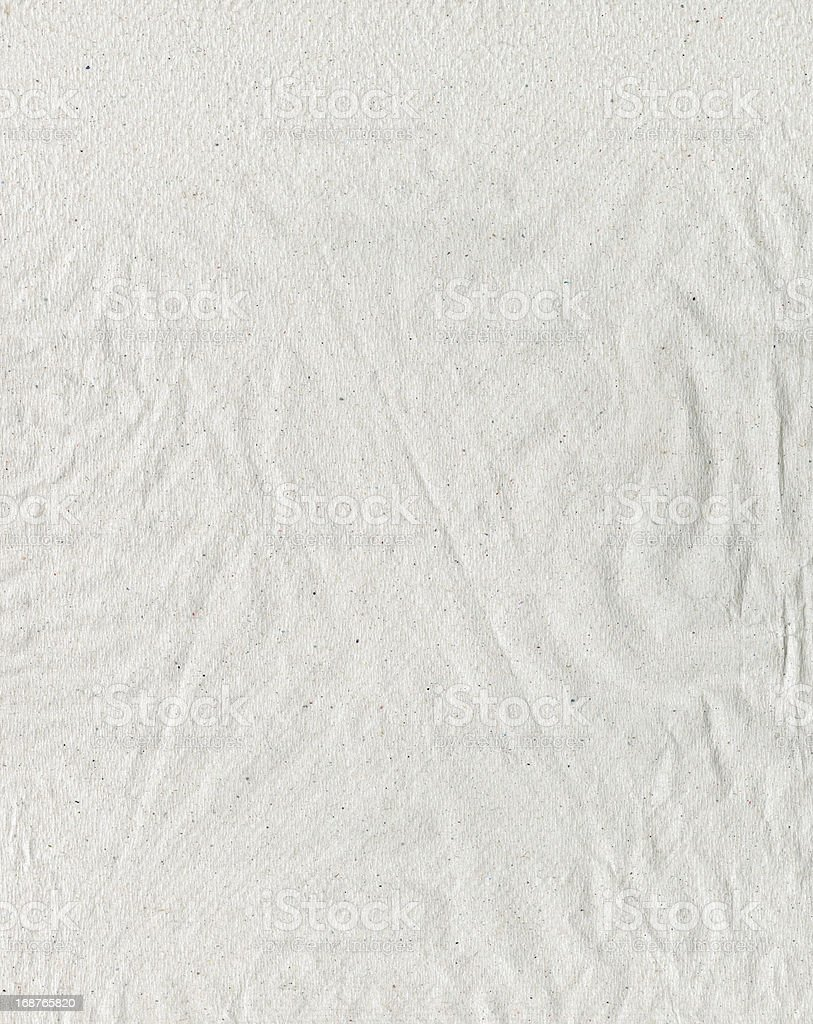Recycled Paper With Puckers and Creases royalty-free stock photo