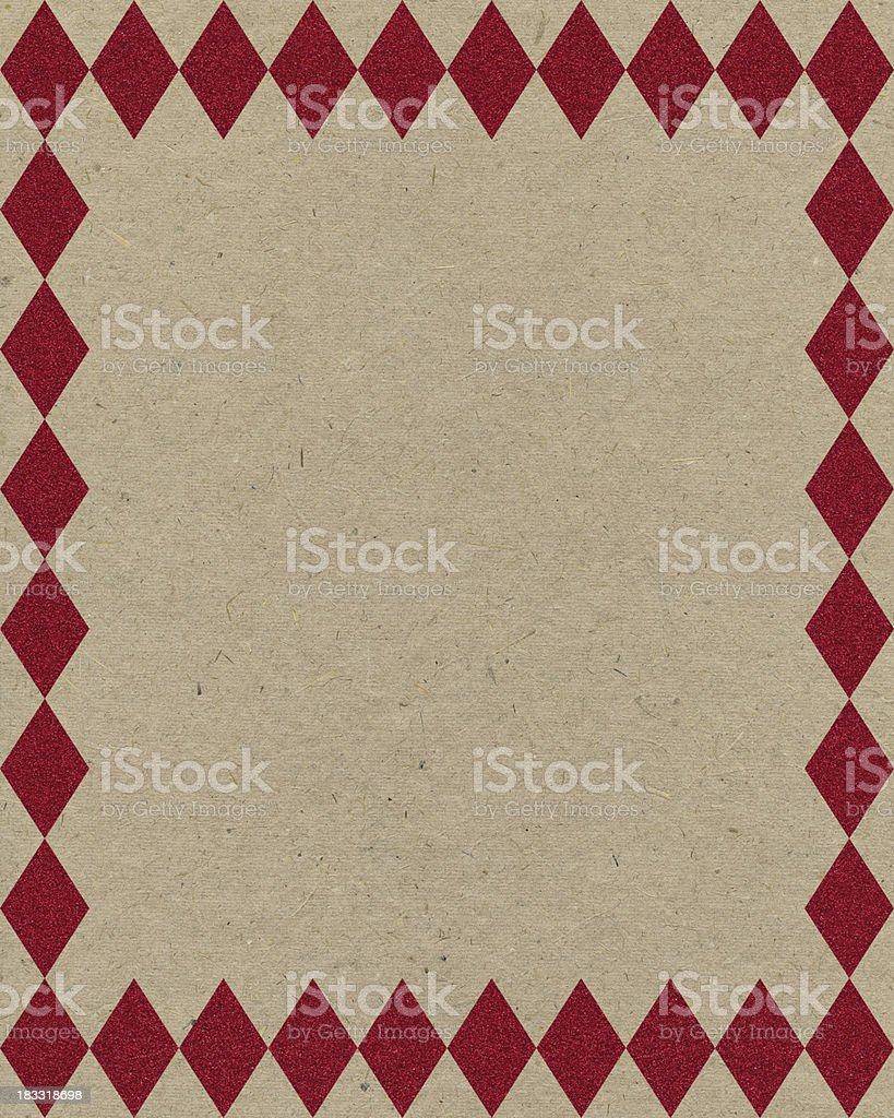 recycled paper with red frame royalty-free stock photo