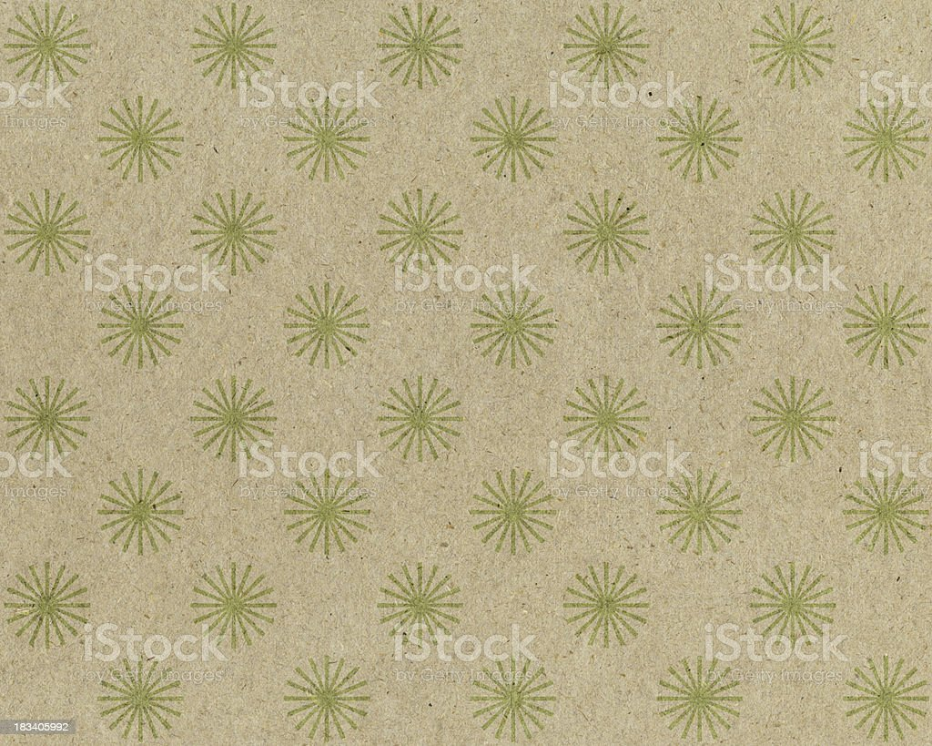 recycled paper with star design royalty-free stock photo
