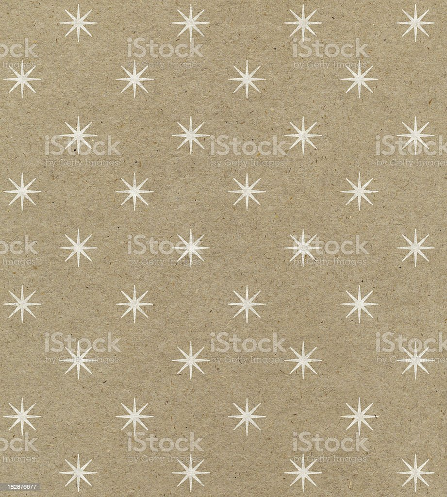 recycled paper with star pattern stock photo