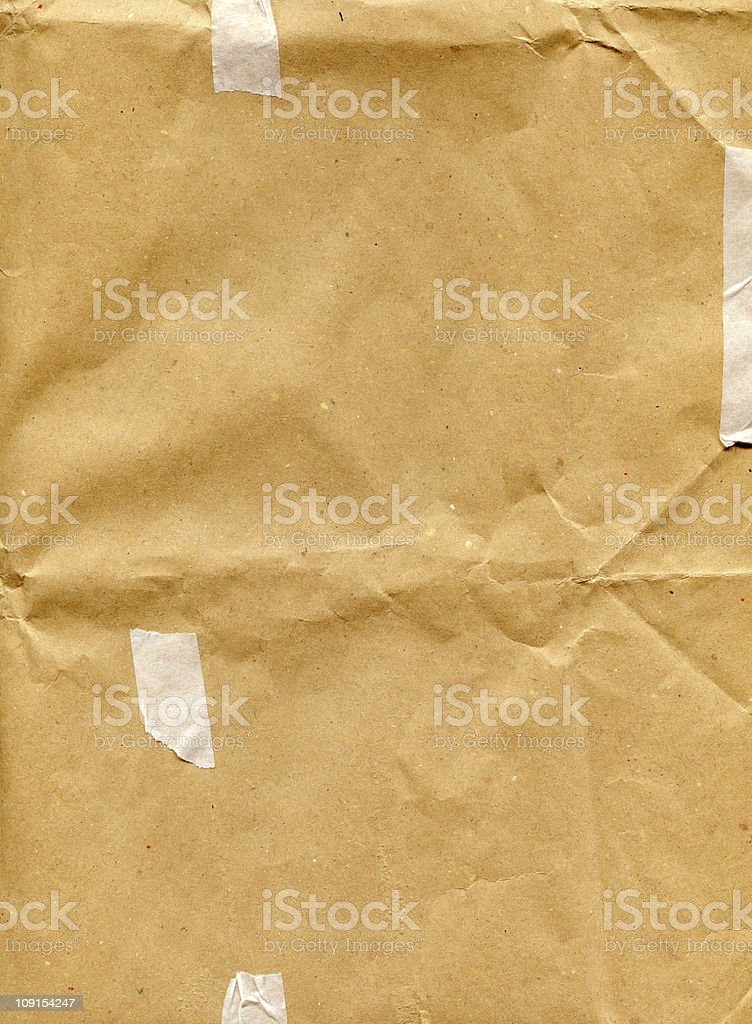 recycled paper with tape royalty-free stock photo