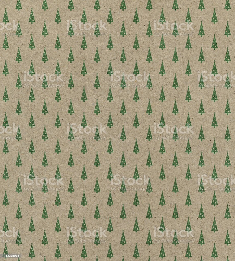recycled paper with tree pattern royalty-free stock photo