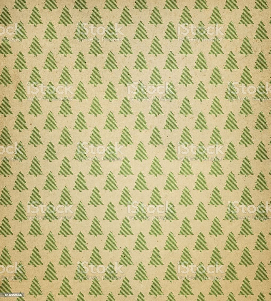 High resolution recycled paper with tree pattern vector art illustration