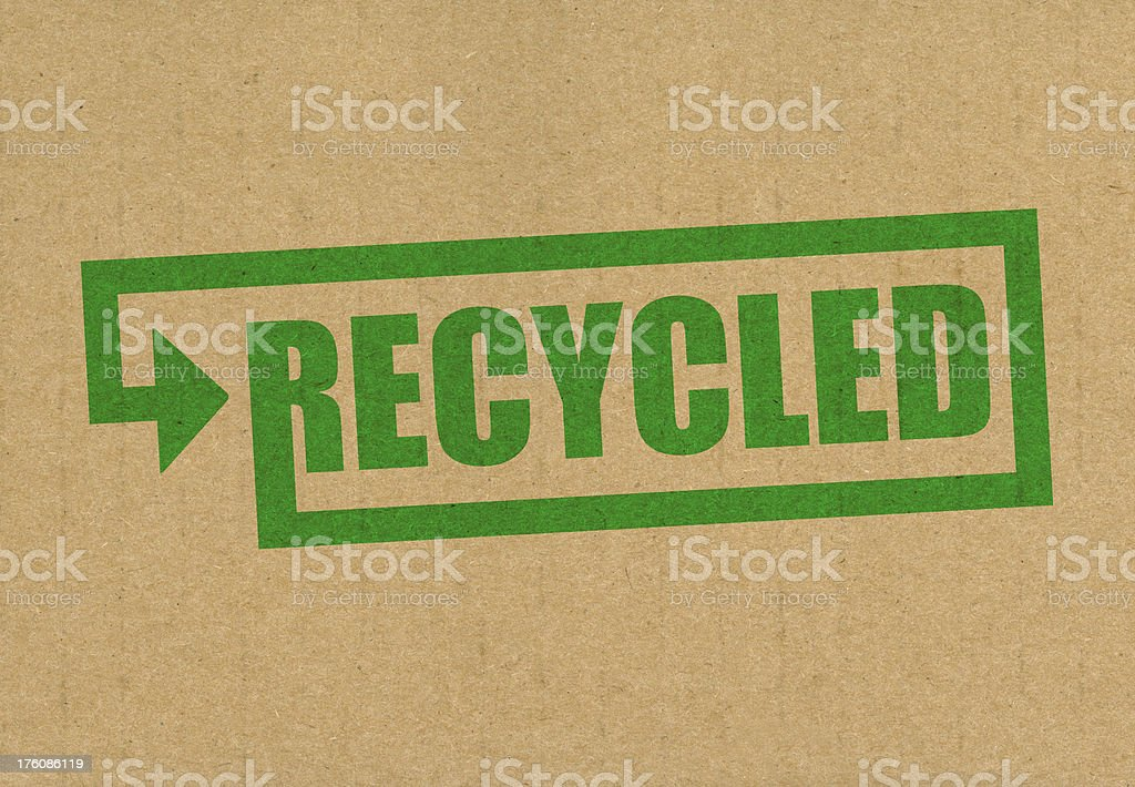 Recycled royalty-free stock photo