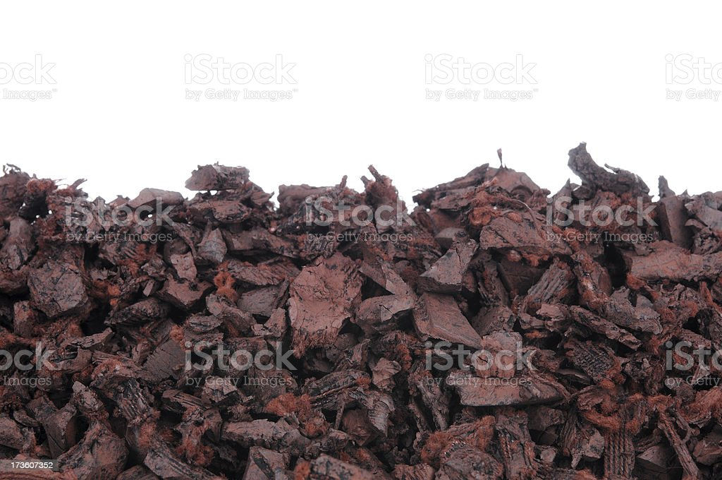 Recycled Rubber Mulch royalty-free stock photo