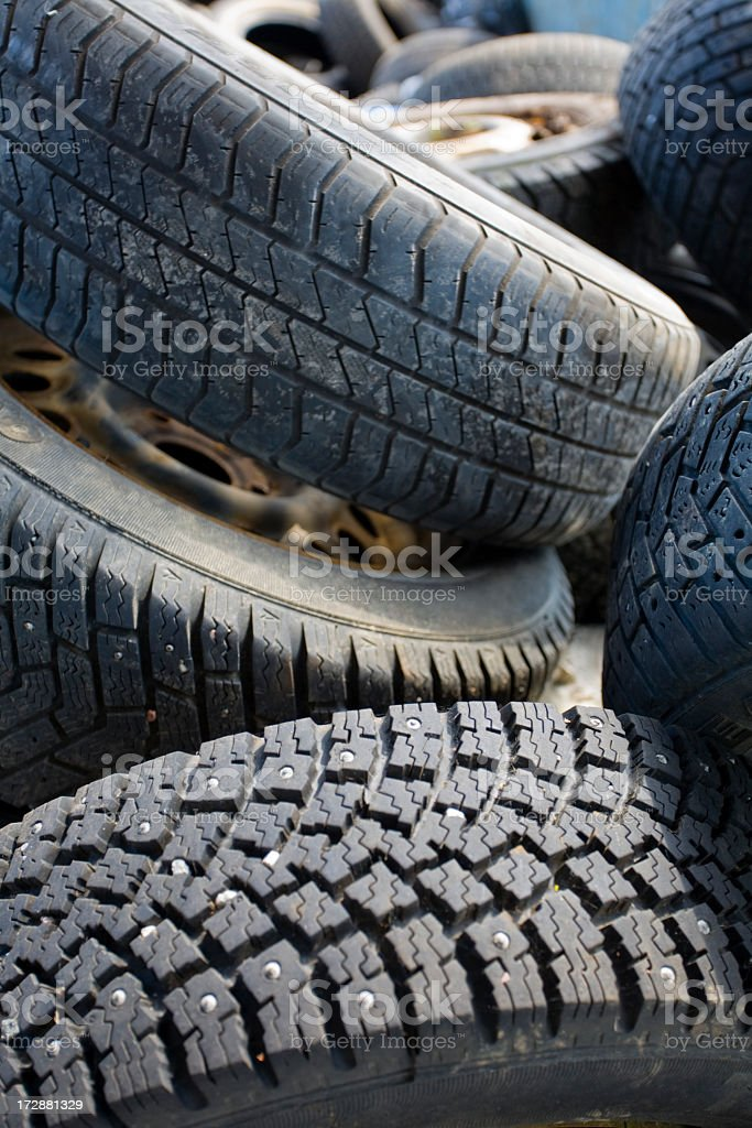 Recycled rubber stock photo