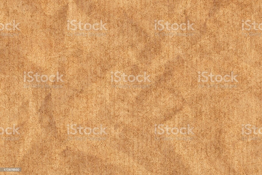 Recycled Striped Kraft Brown Paper Crumpled Grunge Texture stock photo