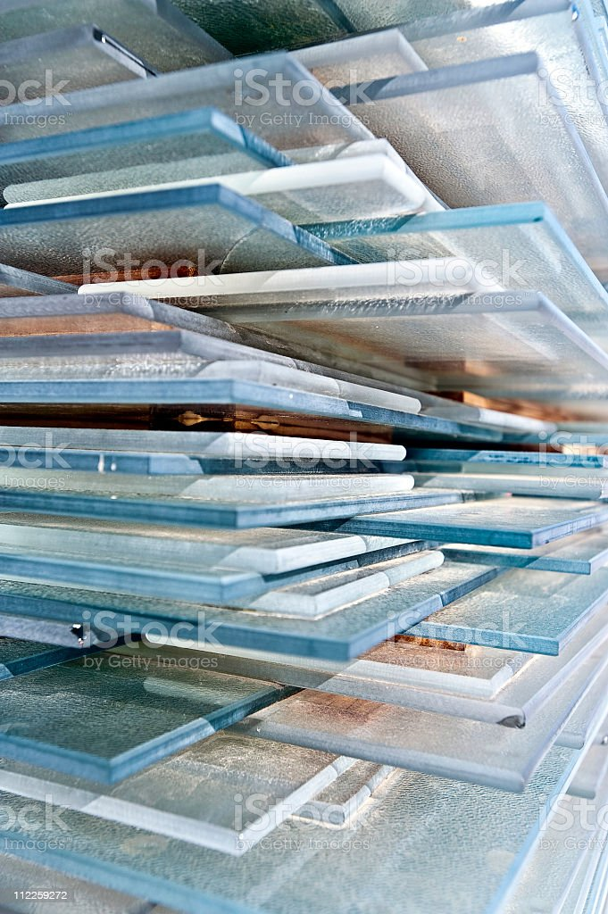 recycled window glass royalty-free stock photo