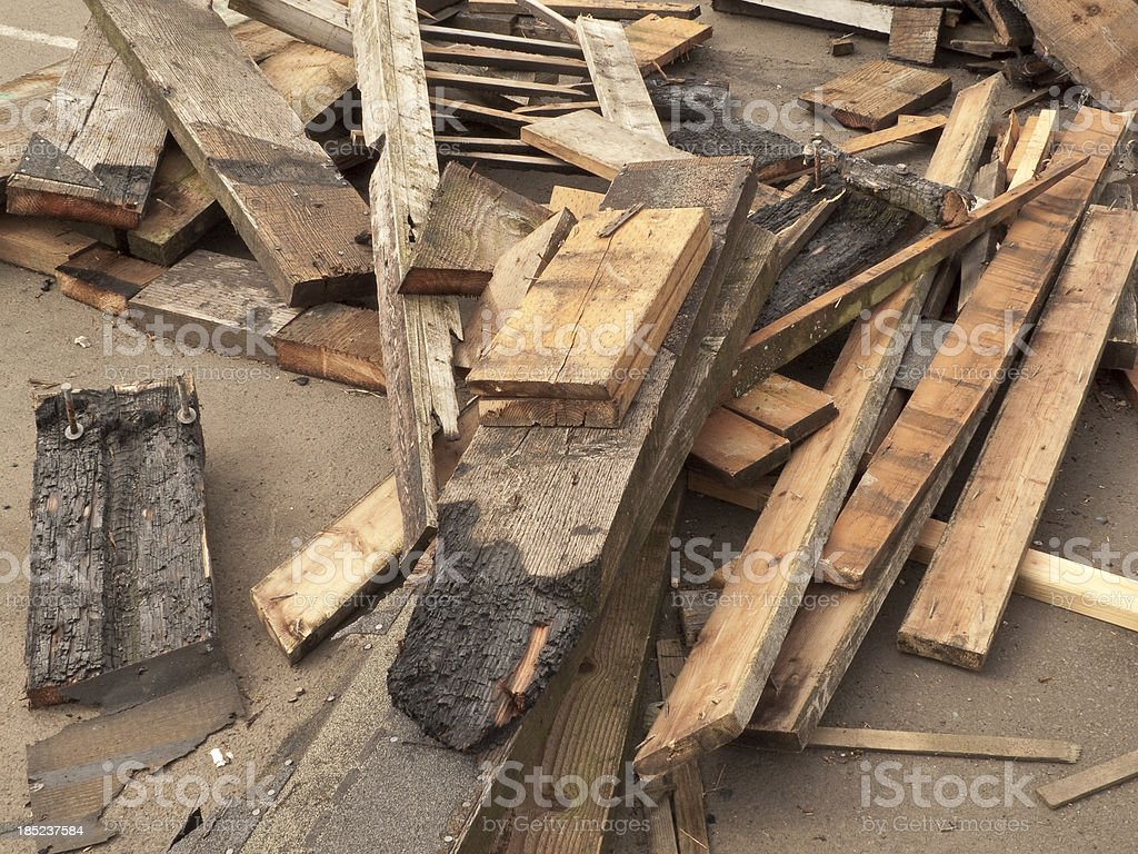 Recycled Wood royalty-free stock photo