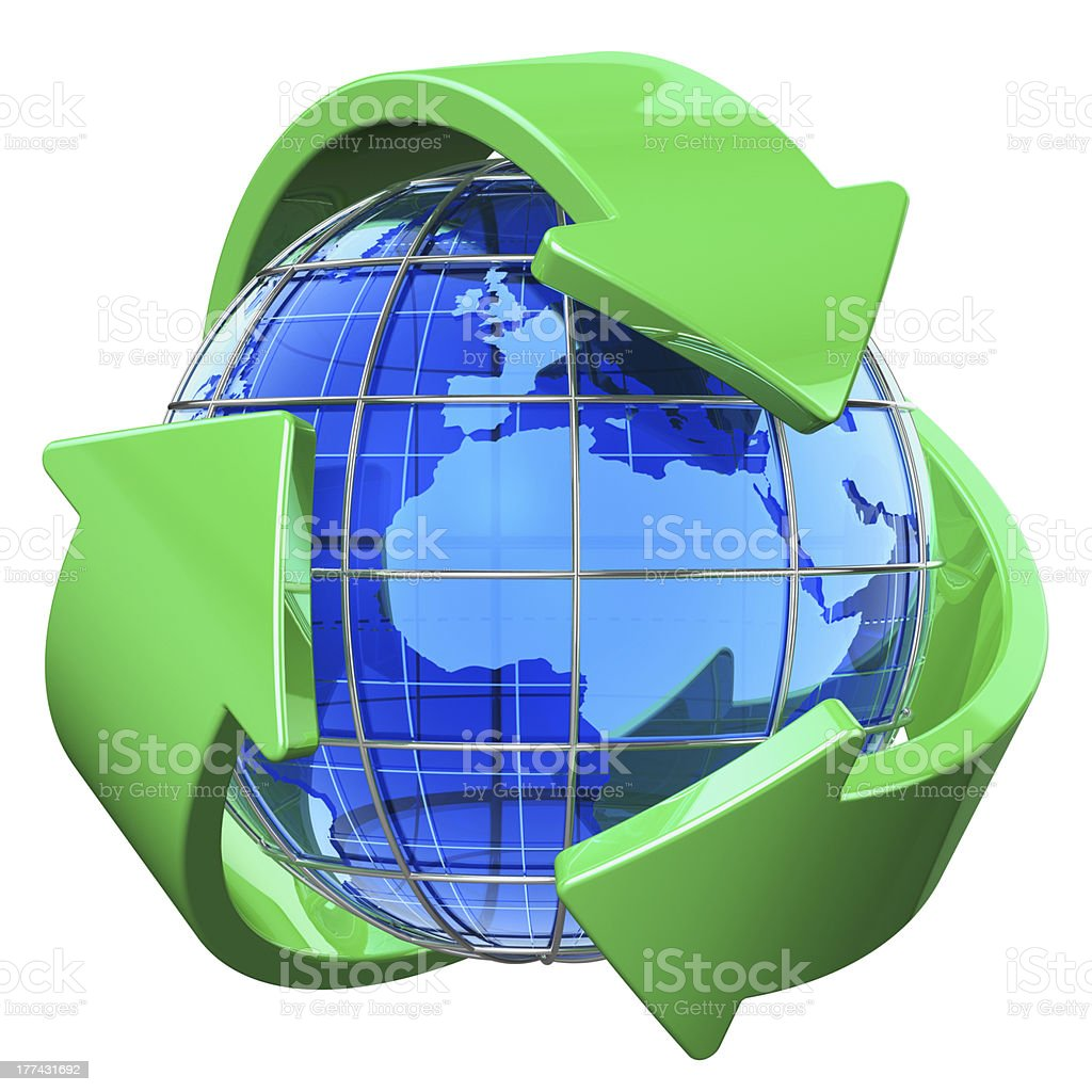 Recycling and environment protection concept royalty-free stock photo