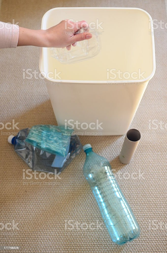 Recycling at home royalty-free stock photo