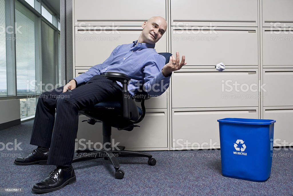 Recycling at the Office stock photo