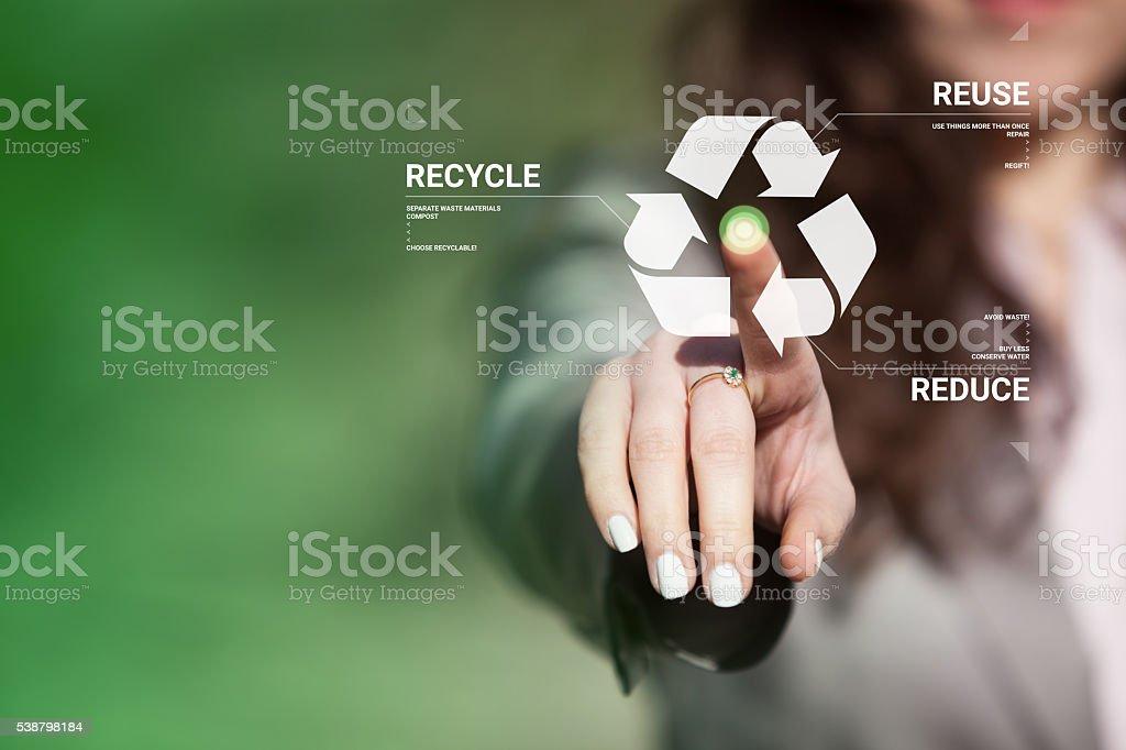Recycling awareness. stock photo