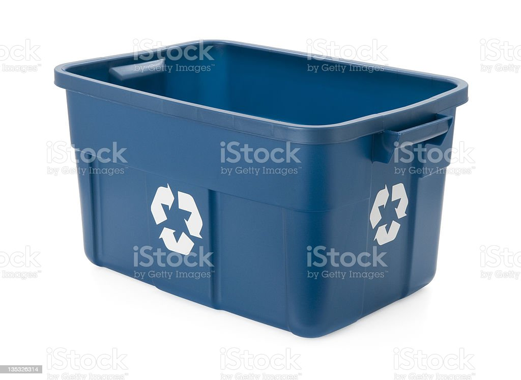 Recycling Bin - high angle royalty-free stock photo